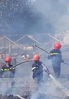 Cháy rụi 4 căn nhà ở Lạc Dương, Lâm Đồng