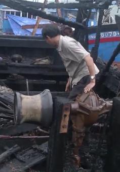 Liên tiếp 5 tàu cá Quảng Ngãi bị cháy rụi trong 3 ngày nghỉ lễ