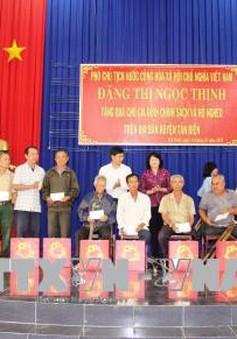 Phó Chủ tịch nước thăm và tặng quà cho đối tượng chính sách tại tỉnh Tây Ninh