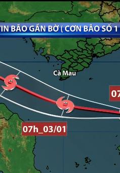 Bão số 1 sẽ gây mưa lớn ở Nam Bộ