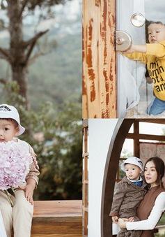Dương Cẩm Lynh mặc đồ đôi cùng con trai trong bộ ảnh đón sinh nhật