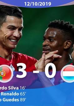 Bồ Đào Nha 3-0 Luxembourg: Ronaldo lập công (Bảng B, Vòng loại EURO 2020)