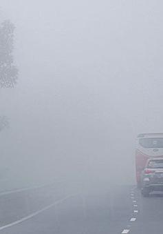 Cảnh báo sương mù dày đặc tại đèo Khánh Lê