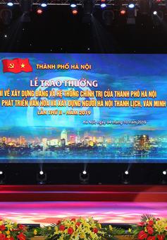 Hà Nội trao 2 giải báo chí về xây dựng Đảng và phát triển văn hoá lần thứ II – năm 2019