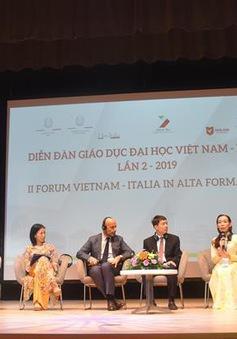 Đại diện 40 trường đại học tham dự Diễn đàn giáo dục đại học Việt Nam - Italy