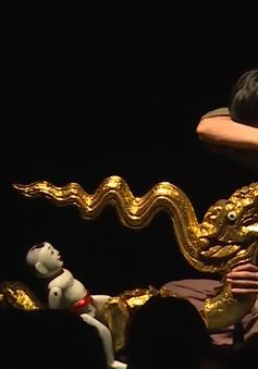 """Rối người, rối nước, rối dây kết hợp trong vở diễn """"Mơ rồng"""""""