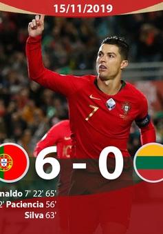 ĐT Bồ Đào Nha 6-0 ĐT Litva: Ronaldo lập hat-trick