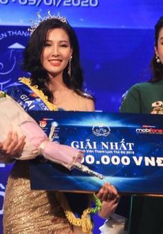 """Nữ sinh ĐH Hà Nội đăng quang """"Nữ sinh thanh lịch Thủ đô 2019"""""""