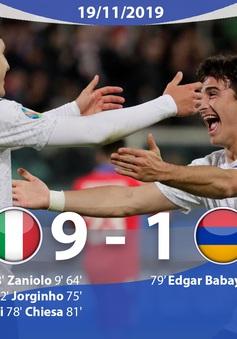 ĐT Italia 9-1 ĐT Armenia: Toàn thắng 10 trận