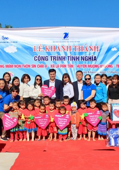 Khánh thành công trình trường mầm non thôn Sín Chải A