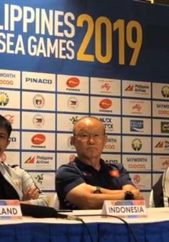 Họp báo bảng B môn bóng đá nam SEA Games 30, HLV Park: 'Chúng tôi sẽ thận trọng và cố gắng giành kết quả tốt nhất'