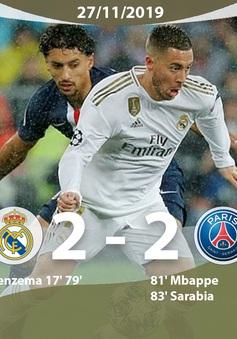 Real Madrid 2-2 PSG: Đánh rơi chiến thắng