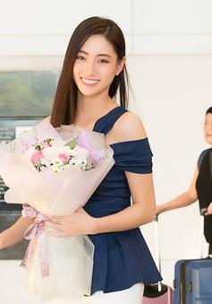 Lương Thùy Linh đẹp rạng ngời trở về nước sau khi lọt Top 12 Miss World