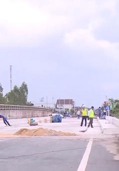 Khắc phục hư hỏng quốc lộ 1 qua tỉnh Bình Định