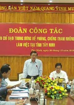 Kiểm tra phòng chống tham nhũng tại Tây Ninh