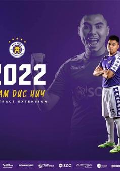 CLB Hà Nội thông báo gia hạn hợp đồng thêm 3 năm với tiền vệ Đức Huy