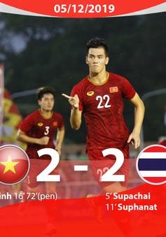 VIDEO Highlights: U22 Việt Nam 2-2 U22 Thái Lan (Bảng B môn bóng đá nam SEA Games 30)