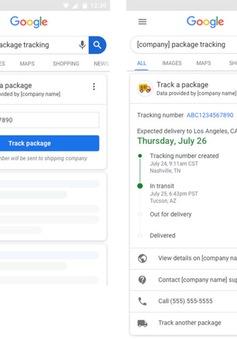 Google thêm tính năng theo dõi đơn hàng trên công cụ tìm kiếm