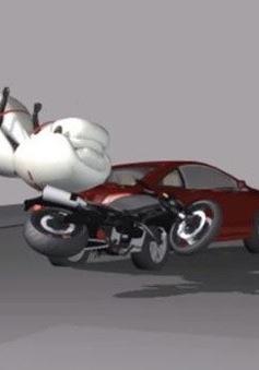 Phát kiến thú vị: Túi khí cho xe máy?