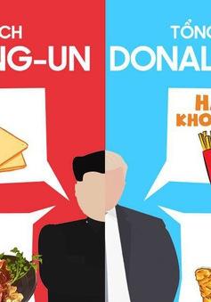 INFOGRAPHIC Thói quen ăn uống ít ai biết của Chủ tịch Triều Tiên Kim Jong-un và Tổng thống Mỹ Donald Trump