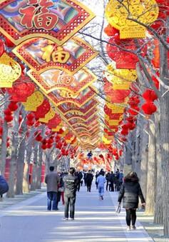 Trung Quốc trang hoàng đón Tết