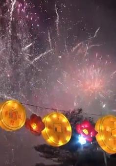 Pháo hoa hoành tráng đón năm Kỷ Hợi tại Singapore