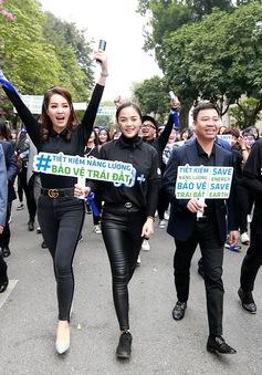 Thu Quỳnh, Thanh Hương, Việt Anh hào hứng tham gia lễ phát động Giờ Trái Đất 2019