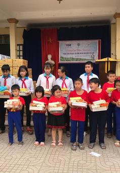 Hỗ trợ nâng cấp cơ sở vật chất và trao học bổng cho học sinh nghèo trường PTCS Hồ Tùng Mậu, tỉnh Nghệ An