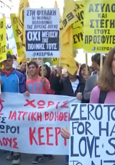 Hàng trăm người dân Hy Lạp tuần hành chống phân biệt chủng tộc