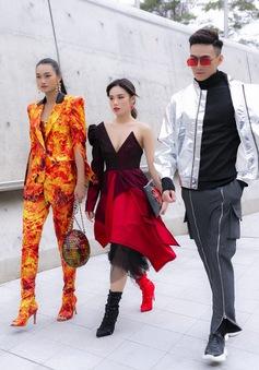 """""""Lên đồ"""" xuống phố, Top 3 The Face Vietnam 2018 nổi bật tại xứ Hàn"""