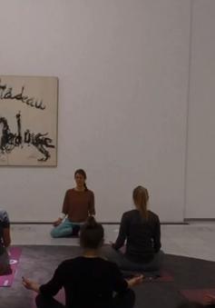 Kết hợp nghệ thuật với Yoga trong không gian bảo tàng
