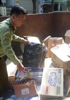 Quảng Ngãi tiêu hủy hơn 10.000 sản phẩm hàng hóa nhập lậu