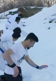 Tập Karate trong băng tuyết