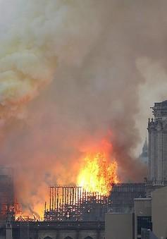 [Video] Khoảnh khắc ngọn tháp Nhà thờ Đức Bà Paris đổ sập vì đám cháy kinh hoàng