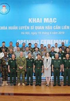Khai mạc Khóa huấn luyện Sĩ quan Hậu cần Liên Hợp Quốc tại Việt Nam