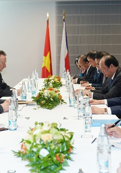 Thủ tướng Nguyễn Xuân Phúc tiếp Chủ tịch Đảng cộng sản Czech