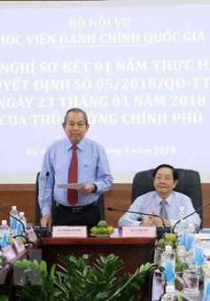 Phó Thủ tướng Trương Hòa Bình làm việc với Học viện Hành chính quốc gia