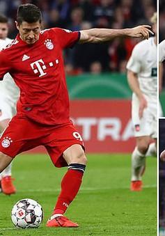 Lewandowski lập cú đúp, Bayern Munich nhọc nhằn vào bán kết Cúp Quốc gia Đức