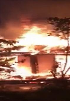 Chập điện thiêu cháy ngôi nhà của bà cụ neo đơn