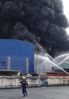 Hải Phòng: Cháy lớn tại kho chứa nhựa Công ty Phú Lâm