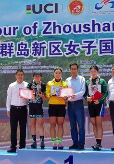 Nguyễn Thị Thu Mai giành áo vàng giải đua xe đạp quốc tế cấp độ 2.2