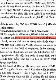 Bất hợp lý chính sách thu hồi đất ở Khánh Hòa