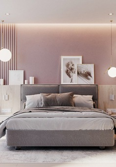 Ngắm phòng ngủ màu hồng mang phong cách hiện đại và lãng mạn