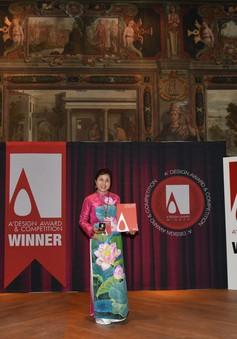 Họa sĩ Nguyễn Thu Thủy đến Italy nhận Huy chương Vàng cuộc thi Thiết kế quốc tế