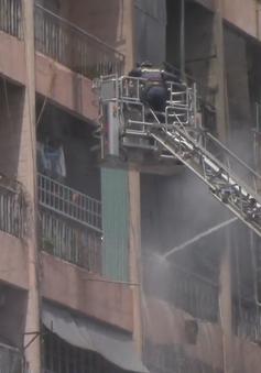 Cháy ký túc xá sát bệnh viện, nhiều bệnh nhân được sơ tán