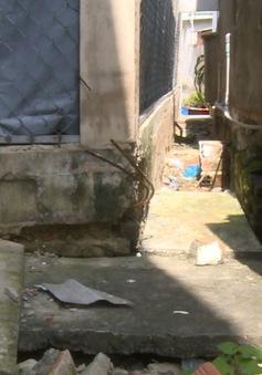 Khu phố ngập úng vì cống thoát nước bị lấn chiếm