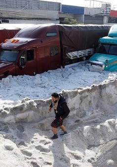 Mexico City chìm trong băng do mưa đá mùa hè