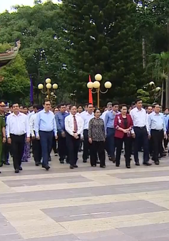 Chủ tịch Quốc hội dâng hương, tưởng niệm các anh hùng liệt sỹ ở TP.HCM