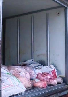 Bắt vụ vận chuyển sản phẩm động vật không rõ nguồn gốc