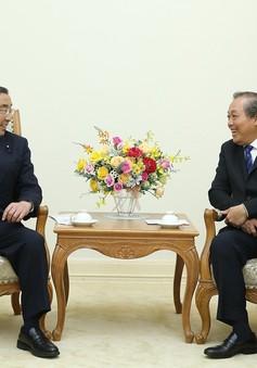 Phó Thủ tướng Trương Hòa Bình tiếp Quốc vụ khanh Bộ Nội vụ Nhật Bản